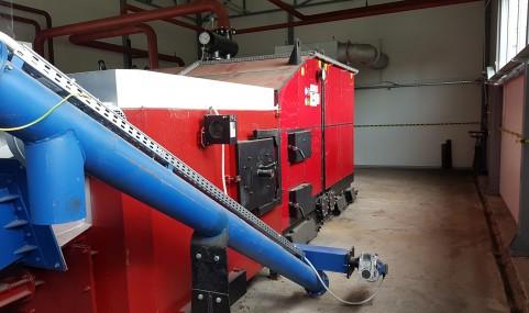 Kocioł 950kW z wyposażeniem kotłowni